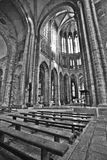 Mont Saint Michel Abbey Chapel Images libres de droits