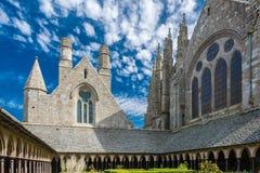 Mont Saint Michel Abbey en Francia Fotos de archivo libres de regalías