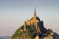 Mont Saint Michel Abbey en Normandía Imagen de archivo