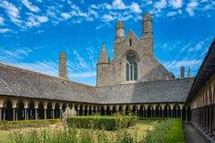 Mont Saint Michel Abbey i Frankrike Royaltyfri Bild