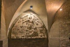 Mont Saint Michel Abbey i Frankrike Royaltyfria Bilder