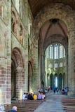Mont Saint Michel Abbey i Frankrike Arkivfoton