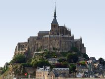Mont Saint Michel Abbey Stock Images
