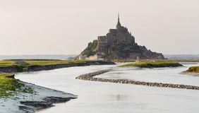 Mont Saint Michel Abbey Royalty Free Stock Photos