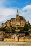 Mont Saint Michel Abbey. Mont Saint Michele iconic Abbey in Normandy, France Royalty Free Stock Photography