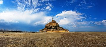 Mont Saint Michel Abbey. Mont Saint Michele iconic Abbey in Normandy, France Royalty Free Stock Photo