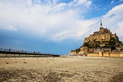 Mont Saint Michel Abbey. Mont Saint Michele iconic Abbey in Normandy, France Stock Photo