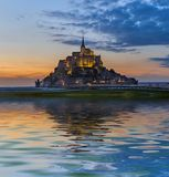 Mont Saint Michel Abbey - Normandía Francia Imagenes de archivo
