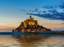 Mont Saint Michel Abbey - Normandie Frankrike Royaltyfri Bild