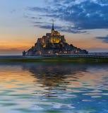 Mont Saint Michel Abbey - Normandie Frankrike arkivbilder