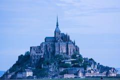 Mont Saint-Michel Abbey, Normandie, Frankrike Arkivfoton