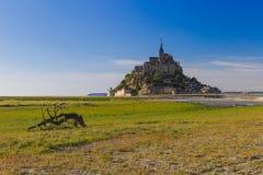 Mont Saint Michel Abbey - Normandie Frankrike Arkivfoto