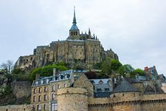 Mont Saint-Michel Abbey, Normandie, Frankrike Royaltyfri Bild