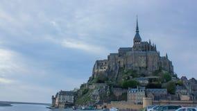 Mont Saint-Michel Abbey, Normandie, Frankrike Arkivbild