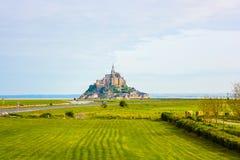Mont Saint-Michel Abbey Normandie, Frankrike Royaltyfri Foto