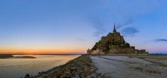Mont Saint Michel Abbey - Normandie Frankrike Fotografering för Bildbyråer