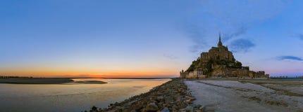 Mont Saint Michel Abbey - Normandie Frankrike Royaltyfri Bild