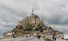 Mont Saint Michel abbey, Normandy, France royalty free stock photo