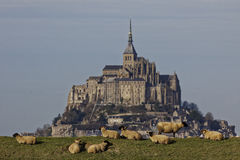 Mont Saint Michel Abbey Stock Image
