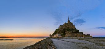 Mont Saint Michel Abbey - Normandy France. Travel and architecture background Stock Photos