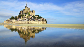 Mont Saint Michel abbey. Royalty Free Stock Images