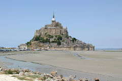 Mont Saint-Michel, an abbey upon a rock Stock Photos