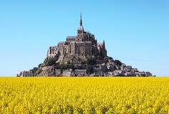 Mont Saint Michel abbey Stock Photography