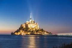 Mont Saint Michel abbotskloster på ön, Normandie, nordliga Frankrike, Europa arkivfoton