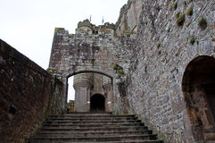 Mont Saint Michel Abby Entrance La Normandia, Francia Fotografia Stock