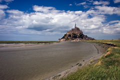 Mont Saint Michel And River Stock Image