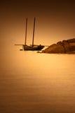 Mont Saint-Michel Bay al tramonto immagine stock libera da diritti