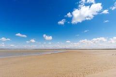 Mont Saint Michel beach Royalty Free Stock Photography