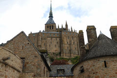 Mont Saint-Michel, bottom view Royalty Free Stock Image