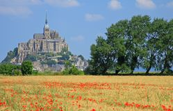 Mont Saint Michel Brittany France Royalty Free Stock Photography