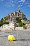 Mont-Saint-Michel and buoy Stock Photo