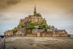 Mont Saint Michel Castle in Normandy Royalty Free Stock Image