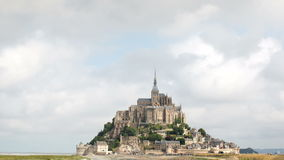Mont saint michel cathedral in france Royalty Free Stock Photo