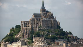 Mont saint michel cathedral in france Stock Images