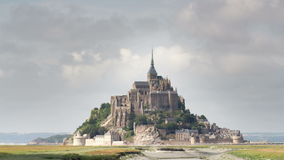 Mont saint michel cathedral in france Royalty Free Stock Images