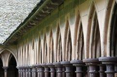 Mont Saint-Michel Cloister Stock Image