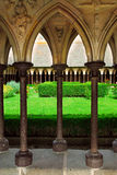 Mont Saint Michel cloister gar Royalty Free Stock Photography