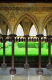 Mont Saint Michel cloister gar Stock Photos