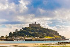Mont Saint Michel in Cornwall, Engeland royalty-vrije stock foto