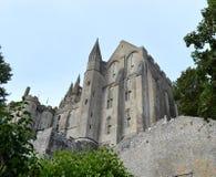 Mont-saint Michel dans des Frances de la Normandie photos libres de droits