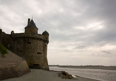 Mont Saint Michel defense tower Royalty Free Stock Photos