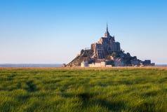 Mont Saint-Michel in Eb Royalty-vrije Stock Fotografie
