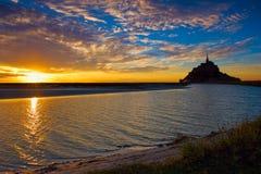 Mont Saint-Michel em Normandy, França Foto de Stock