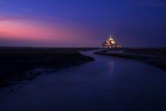 Mont Saint Michel en Francia Imagen de archivo libre de regalías