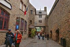 Mont Saint Michel en Normandía de la Mancha en Francia Fotografía de archivo libre de regalías