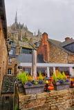 Mont Saint Michel en Normandía la Mancha en Francia Imagenes de archivo